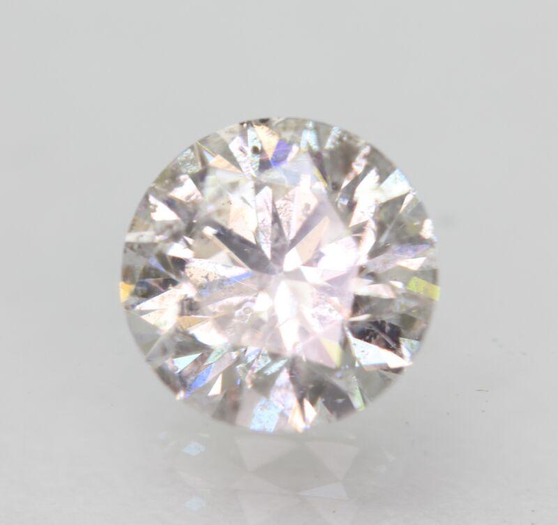 Certified 0.77 Carat G SI1 Round Brilliant Enhanced Natural Loose Diamond 5.9mm