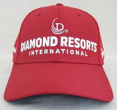 100% authentic 8a363 a5030 New! TaylorMade TOUR ISSUE Golf Cap Hat Diamond Resorts Red   White A-Flex  S M