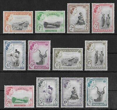SWAZILAND 1956 Mint LH Complete Set of 12 Stamps SG #53-64 CV £120 VF