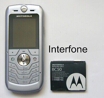 Unlocked Motorola L6 SLVR Mobile Camera Phone-Exc.Cond-Optional Charger Bundle