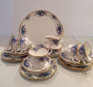 Royal Albert Rare VINTAGE  MOONLIGHT ROSES 21 pc Tea set, ENGLAND Kangaroo Point Brisbane South East Preview