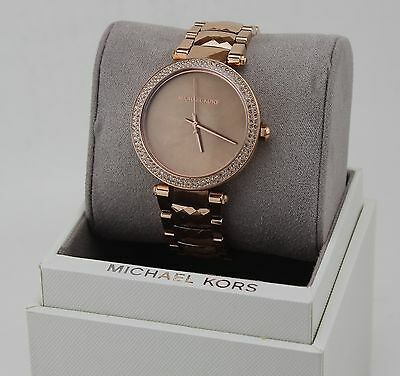 NEW AUTHENTIC MICHAEL KORS PARKER ROSE GOLD CRYSTALS WOMEN'S MK6426 WATCH