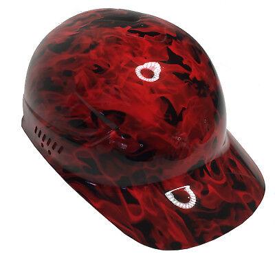 Hydro Dipped Bump Cap Red Flames High Gloss W Free Brb Tshirt