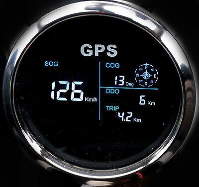 GPS Tachometer Tacho Geschwindigkeitsmesser Sumlog Digital für Boot Yacht 85mm