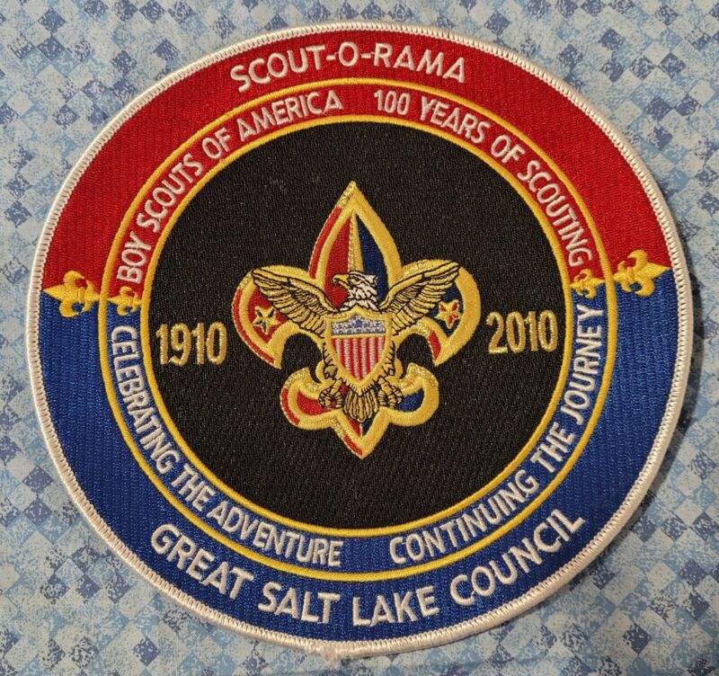 """2010 Great Salt Lake Council 100th Anniversary 7.5"""" Jacket Patch"""