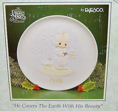 "Precious Moments Plate, ""He Covers The Earth With His Beauty"", 8.5"", NEW"