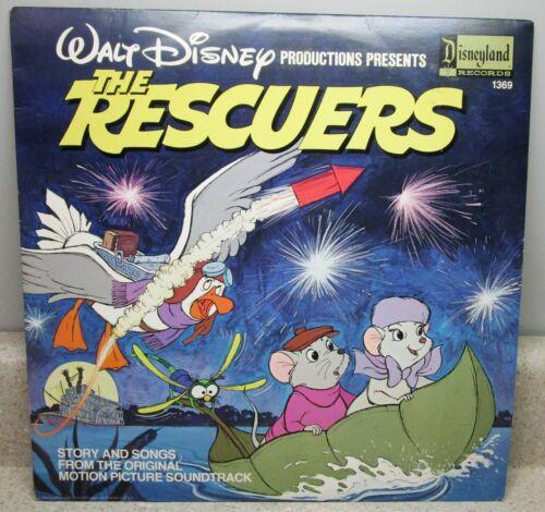 WALT DISNEY THE RESCUERS 1369 DISNEYLAND RECORDS 1987 LP