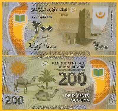 p17 UNC Mauritania 200 Ougiya 28.11.2013