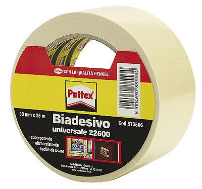 PATTEX 22500 NASTRO BIADESIVO DOPPIO ADESIVO UNIVERSALE 50MM X 25 MT.