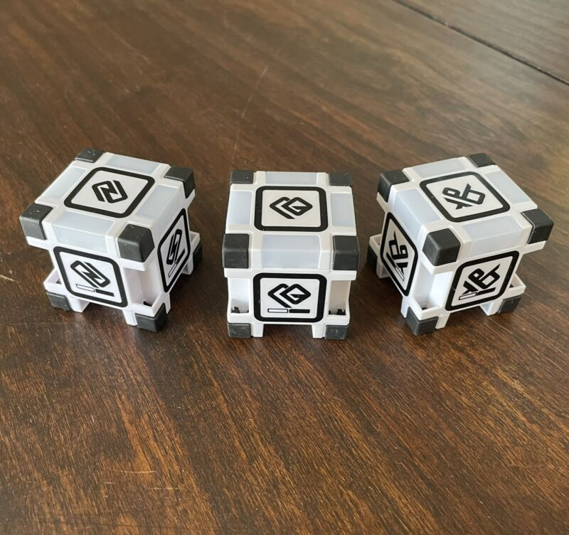 Anki Cozmo Cubes #1, #2 and #3 Full Set Original (batteries not included) - 76