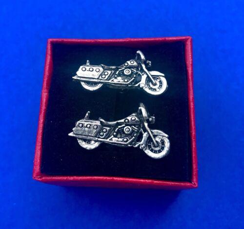 Motorrad Manschettenknöpfe Harley Geschenkidee Neu