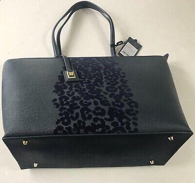 Roberto Cavalli Class Navy Blue bag Shopping Handbag Metallic £220 Velvet - Navy Blue Velvet Bag