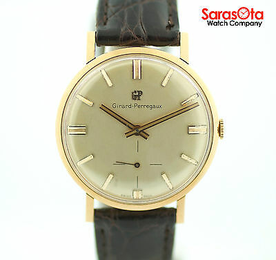 Vintage Girard Perregaux 18K Rose Gold Case Swiss Hand Winding Men's Watch
