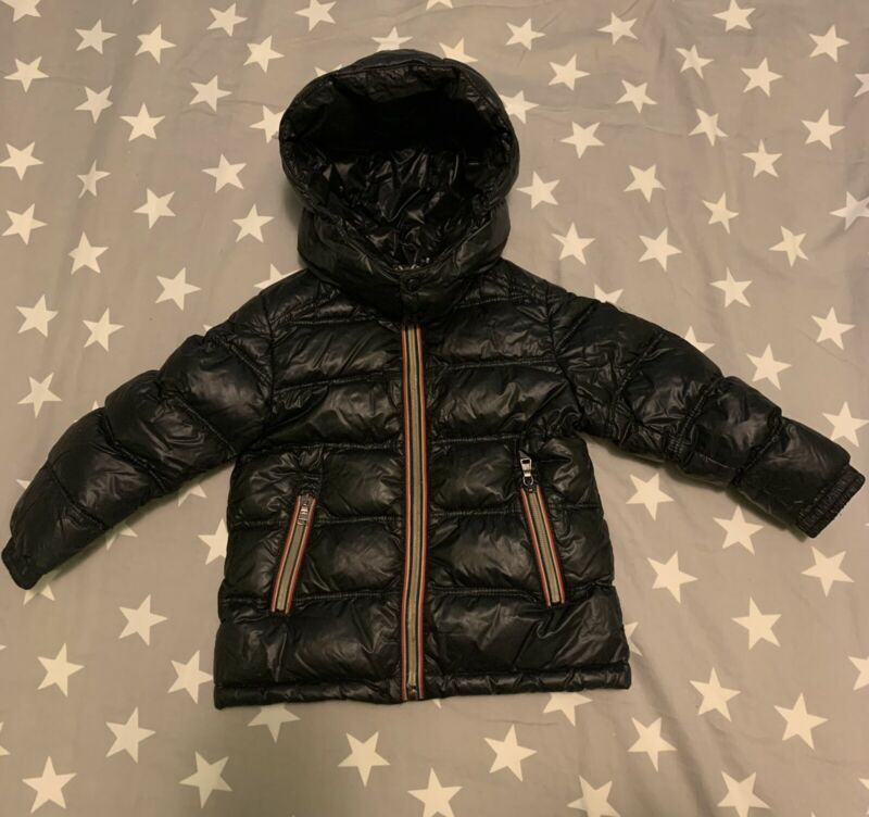 Moncler Toddler Down Puffer Jacket Black Size 92cm (2years) Has Defect