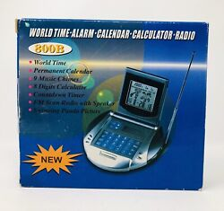 World Time, Alarm, Calendar, Calculator, Radio 800B