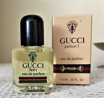 NIB Vintage Gucci Parfum No 1, EDP 7.5 ml, 0.25 fl oz MINI Splash