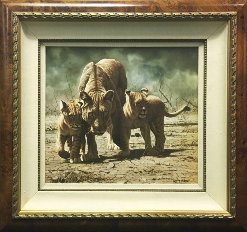 "Craig Bone ""cub Scouts"" | Signed Giclee/canvas | Lions | Coa | Framed | Gallart"