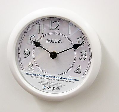 "BULOVA -C4842  STEREO BLUETOOTH LIGHTED DIAL WALL CLOCK  ""VERSATILE"""