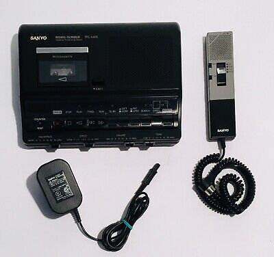 Sanyo Trc-6400 Mini Micro Cassette Dictating Transcribing System Tested