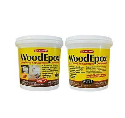 Abatron Woodepox Epoxy Wood Replacement Compound 2 Quart Kit Part A B