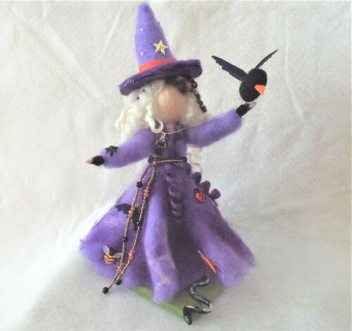 Needle Felted Witch Gift Kitchen witch Halloween