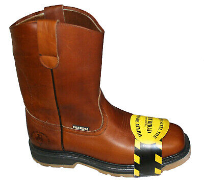 Men's Best Work Boots light W. Pull On Leather oil slip resistant Sz