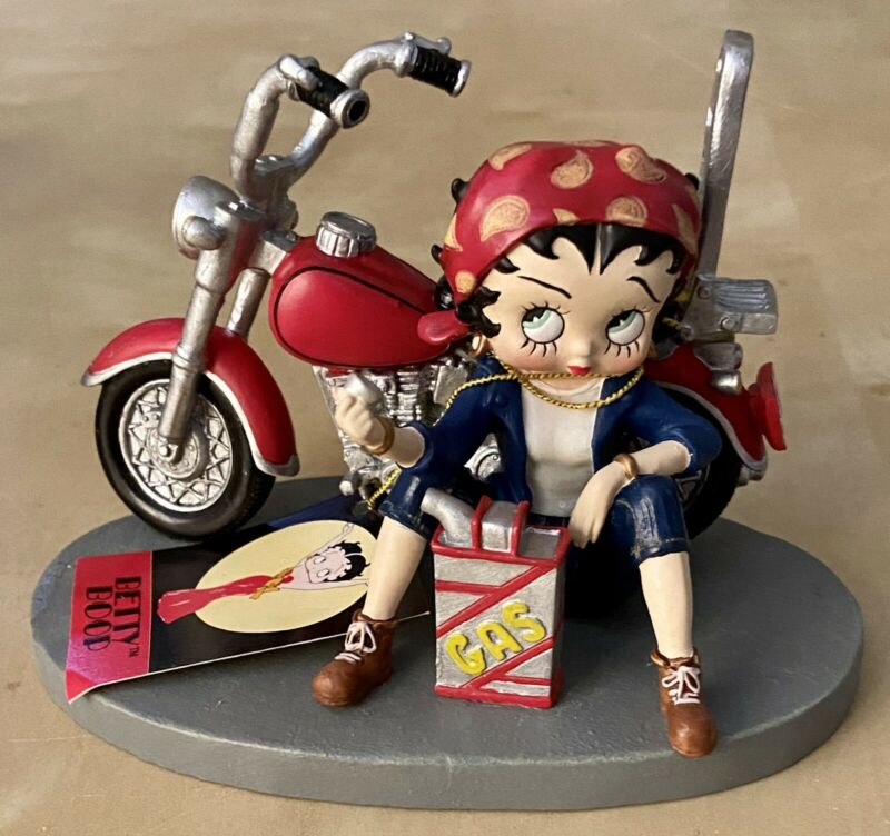 Motorcycle Gas Stop Rider BETTY BOOP Bandana Collectible Figurine Westland RARE