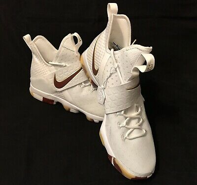 12d4f0cdbd8 Nike Mens 23 CAVS LeBron XIV White/Team Red-Gum Light Brown 852405-104 Size  14