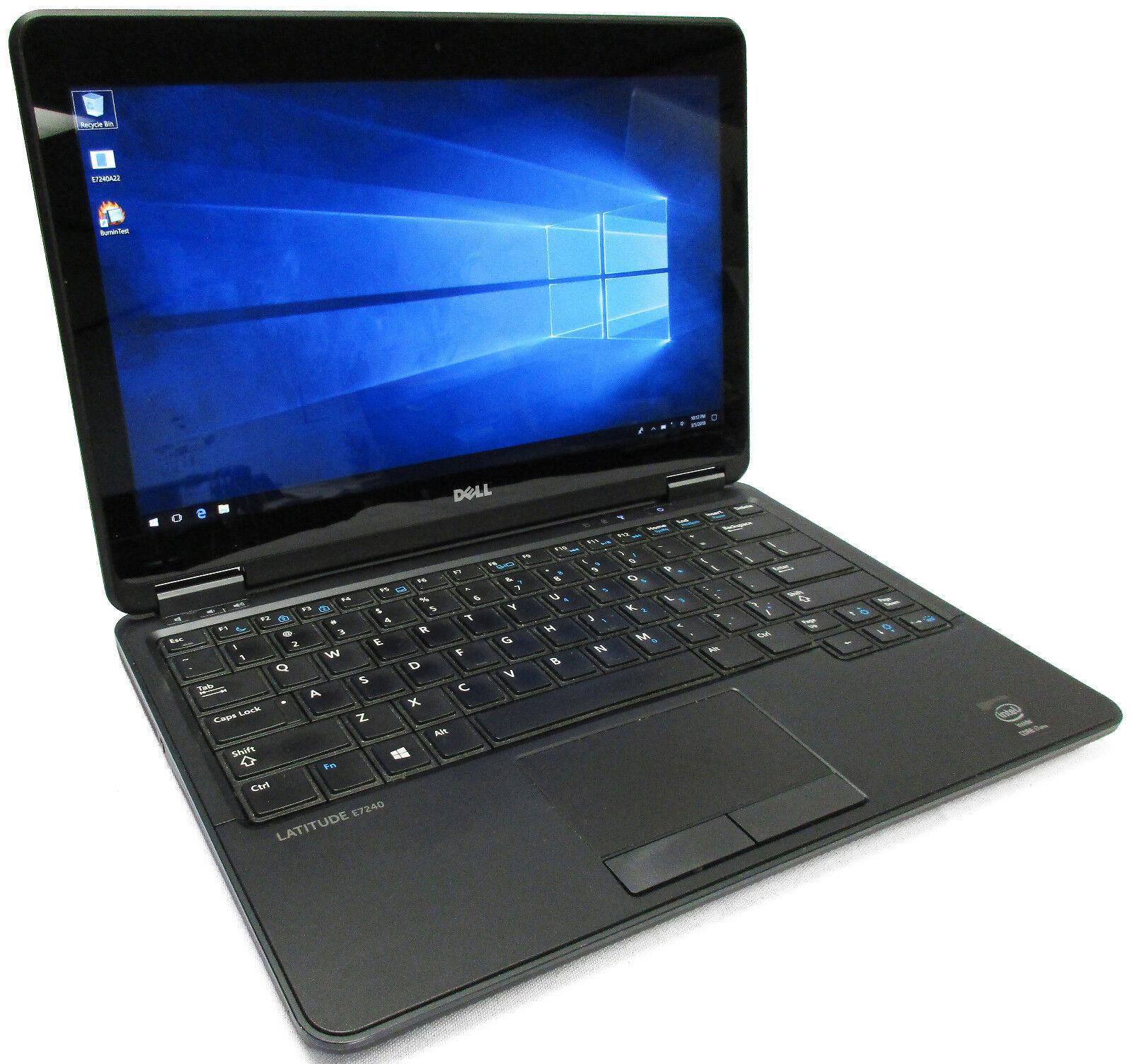 """Dell Latitude E7240 Touchscreen 12.5"""" Core i7-4600U 2.1GHz 256GB SSD 8GB READ"""