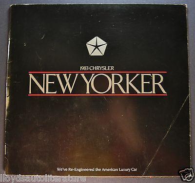 1983 Chrysler New Yorker Catalog Sales Brochure Original 83