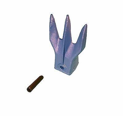 1 - Mini Excavator Backhoe Bucket Hd Trident Rock Tooth W Pin - X156tr3