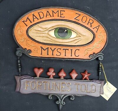 Morgue Sale: Halloween Greg Guedel Madame Zora Fortune Telling Sign Retired2008