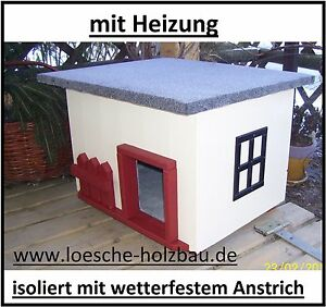 katzenhaus mit heizung katzenh tte beheizt hundeh tte wetterfest isoliert. Black Bedroom Furniture Sets. Home Design Ideas