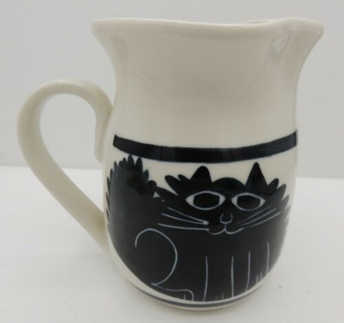 Hand Crafted Pottery Cat Pitcher Signed