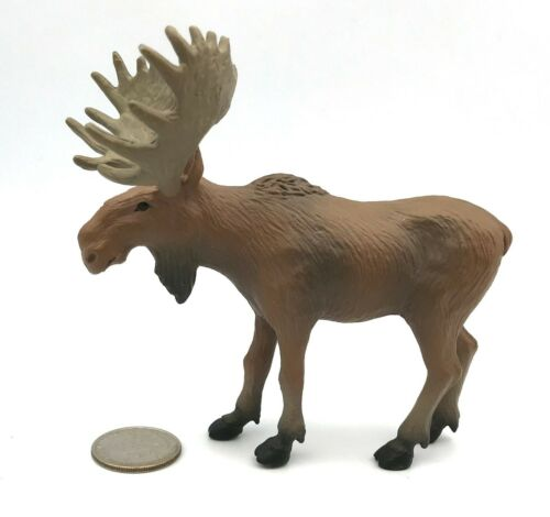 Tree House Kids Male BULL MOOSE Wildlife Animal Figure