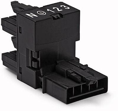 WAGO Winsta Mini Verteiler 2-polig 890-1636 schwarz 1x Eingang 2x Ausgang