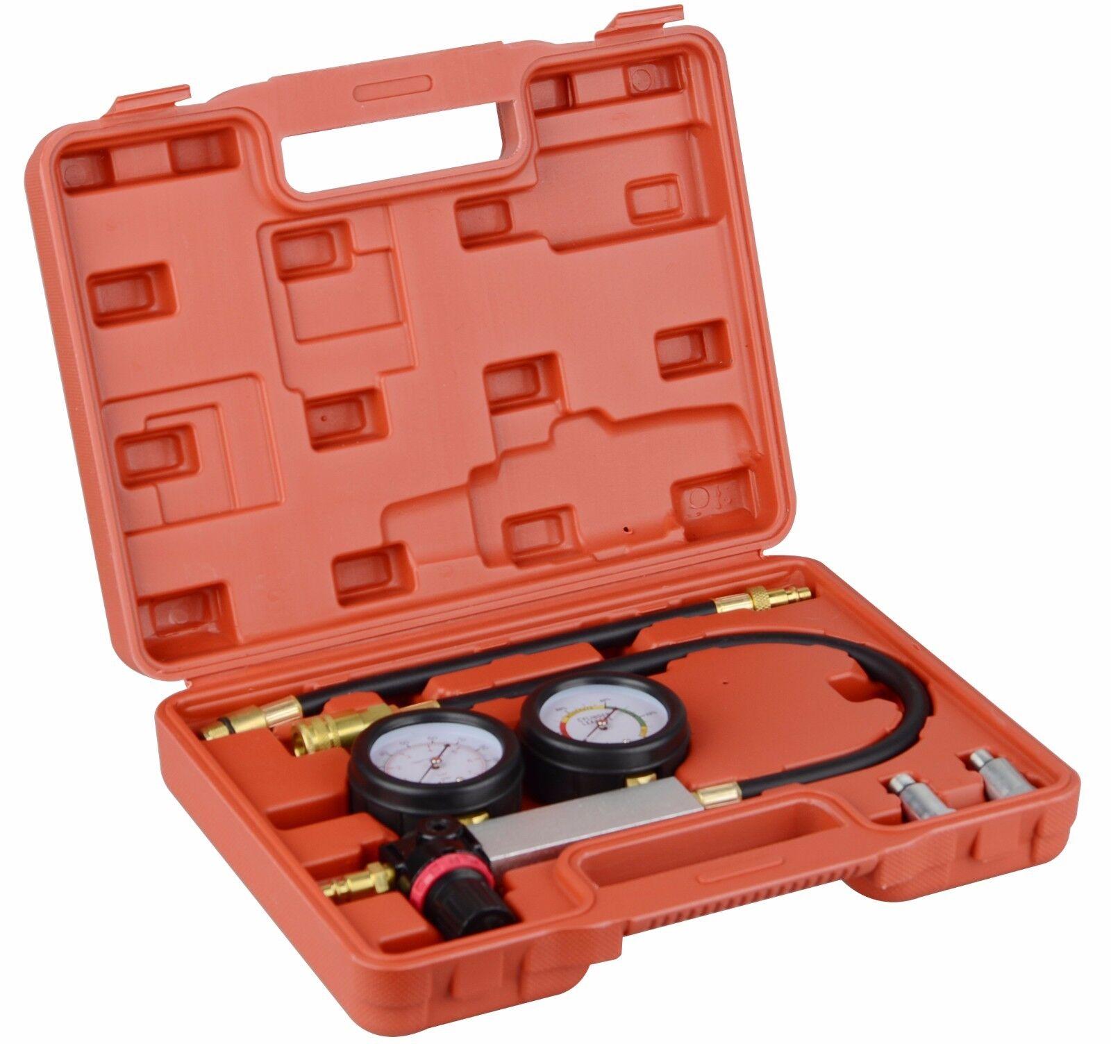 Owner Petrol Engine Compression Leakage Leakdown Detector Cylinder Leak Tester Kits