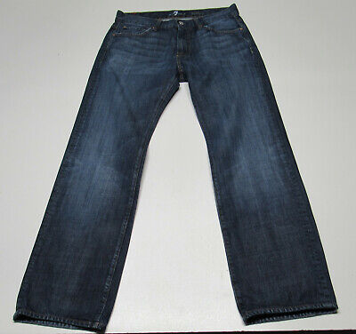 Men's 7 for all Mankind Austyn Relaxed Fit Blue Jeans Size 32x32 : 4973