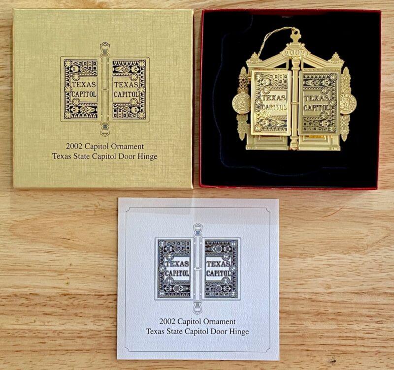 2002 Texas State Capitol Door Hinge Ornament in Box