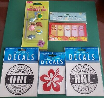 Island Heritage Lot Of 5 Hawaiian Decorative Magnets Sticky Note Tabs Decals