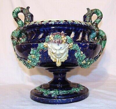 Pair of vintage small ceramic jardinieres