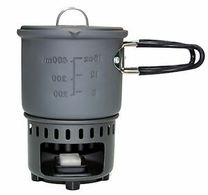 Esbit Solid Fuel Cookset with Stove + Windscreen - NEW Lightweight Design