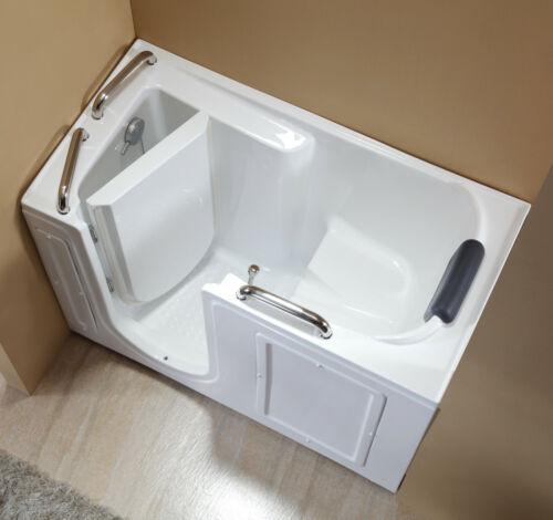"""Empava 52.5"""" Freestanding Acrylic Walk-in Bathtub Left Side Door Soak Tub WIT373"""