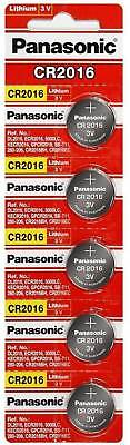 5 x PANASONIC CR 2016 CR2016 ECR2016 LITHIUM COIN CELL Button Battery Exp 2030