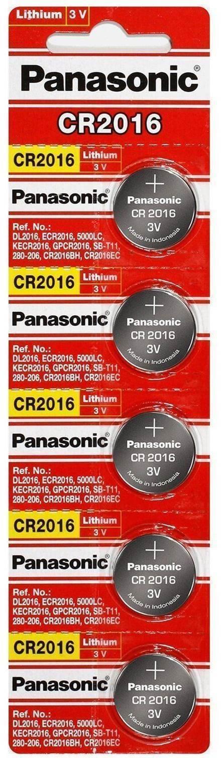5 x PANASONIC CR 2016 CR2016 ECR2016 LITHIUM COIN CELL Button Battery Exp 2025 Consumer Electronics