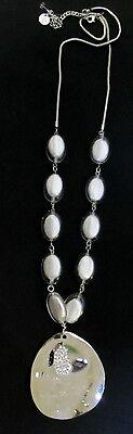 TS TAKING SHAPE Silvery Sparkle Necklace stunning feminine bling jewellery NEW