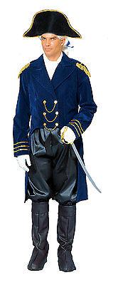 ADULT NAPOLEON GENERAL BONAPARTE CAPTAIN COLONIAL MENS COSTUME JACKET HAT BLUE - Napoleon Kostüm Hat