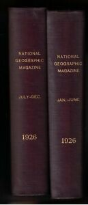 National-Geographic-Bound-Volume-Complete-Year-1926-2-Volumes