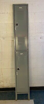 Used Locker Double Door Face Only Metal Steel School Gym 12x78 Replacement