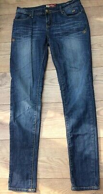 Apple Bottom Jeans Vintage Distressed Style Stretch Skinny US 7/8 Uk 10 , VGC